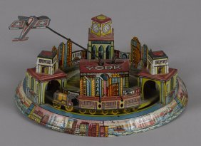 Marx tin lithograph wind-up New York city expres