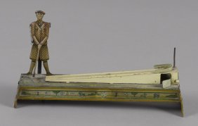 George Kellerman tin lithograph action toy golfe