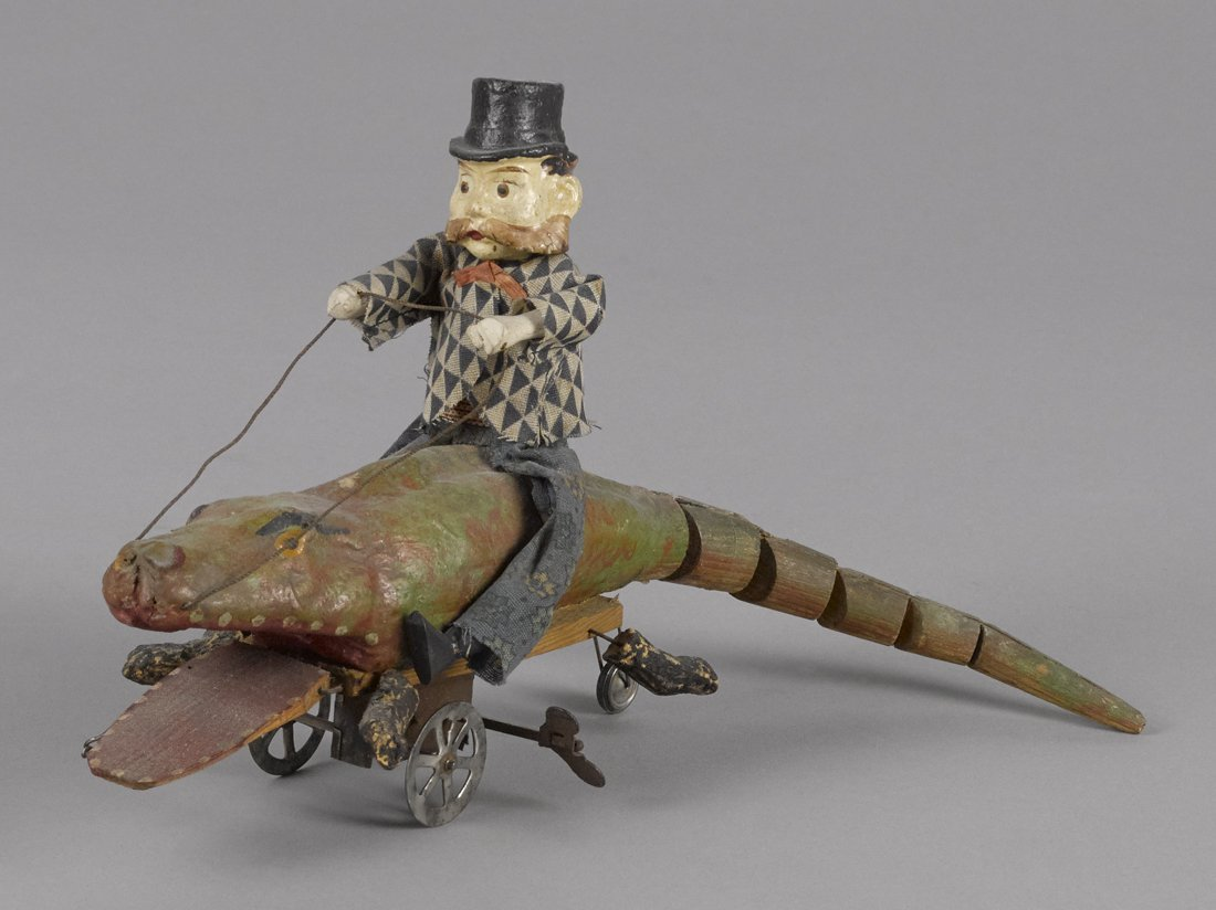 Unusual German composition and wood man riding a
