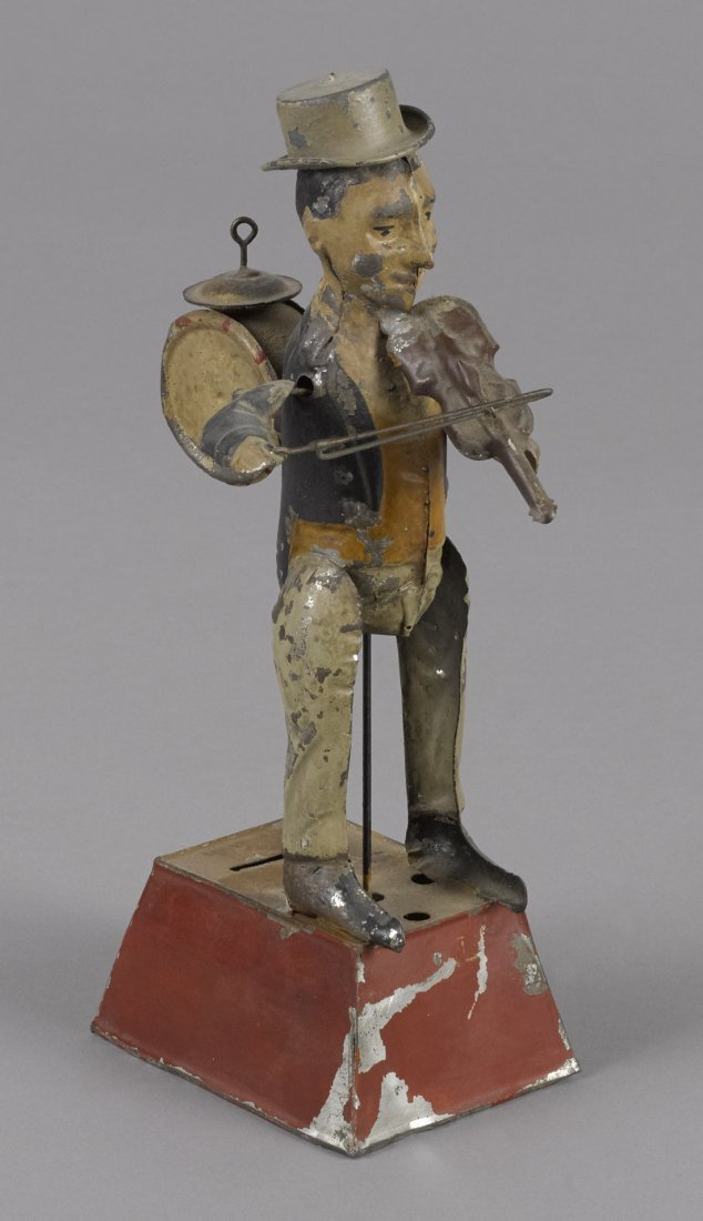 Gunthermann hand painted tin clockwork one-man b