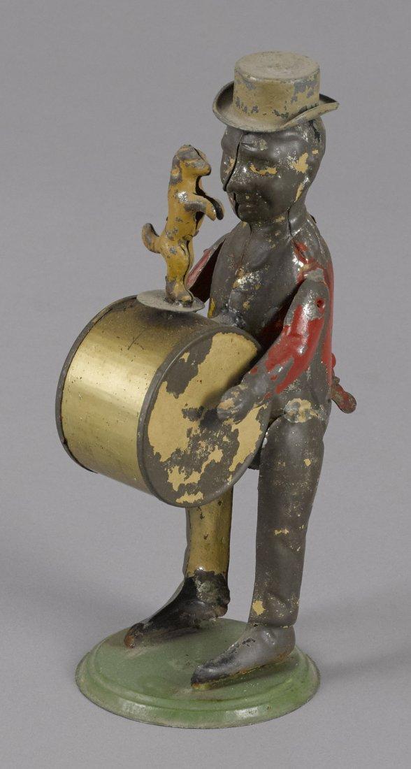 Gunthermann hand painted tin clockwork drummer