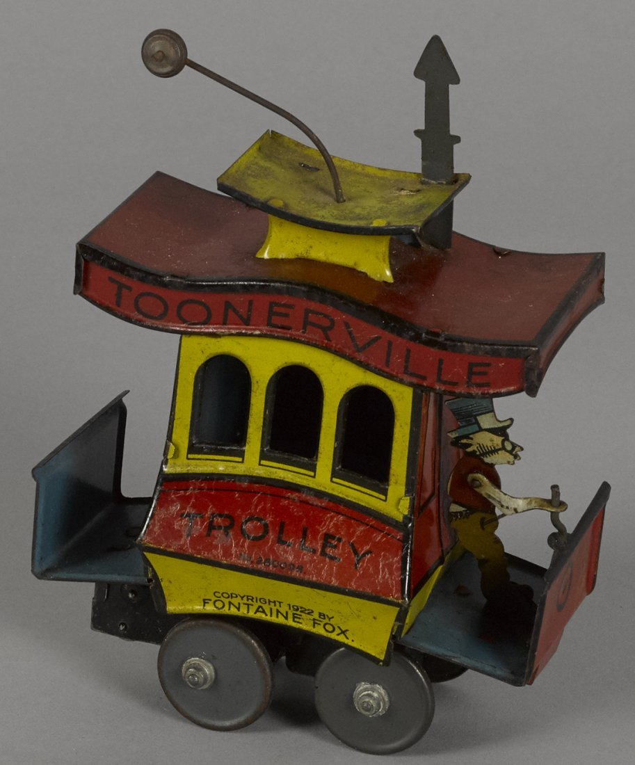 Nifty tin lithograph wind-up Toonerville Trolle