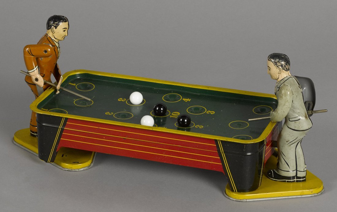 Ranger tin lithograph wind-up pool players, 14''