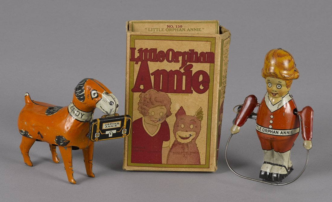 Marx tin lithograph wind-up Little Orphan Annie