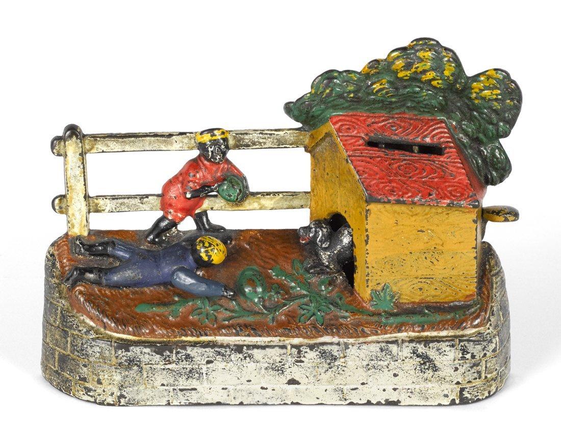 Keyser & Rex cast iron boy stealing watermelon m