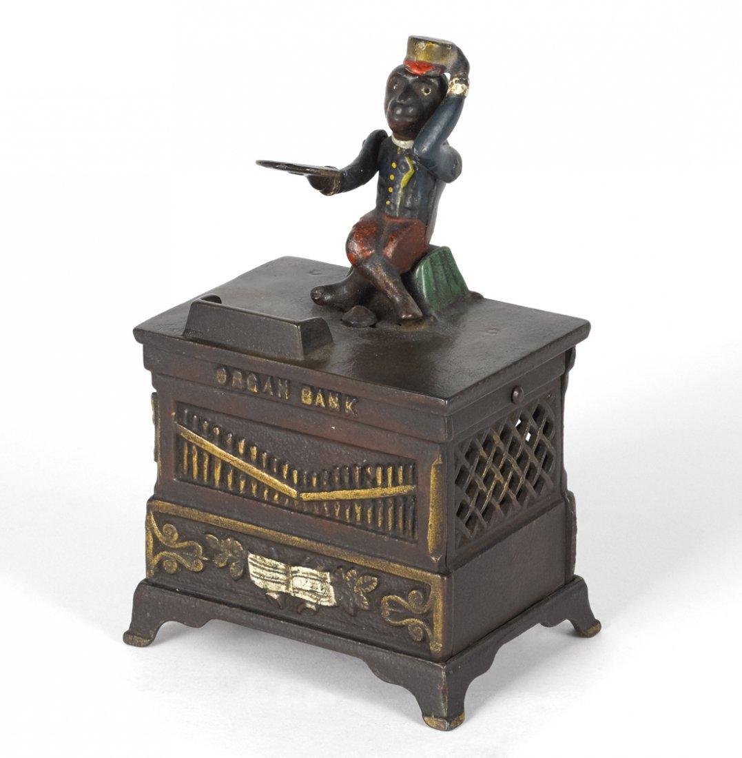Keyser & Rex cast iron Organ mechanical bank,