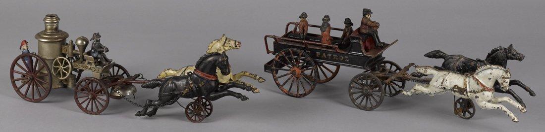 Ives cast iron horse drawn Phoenix - Fire Patro