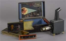 German Earnest Plank Magic Lantern, in its or