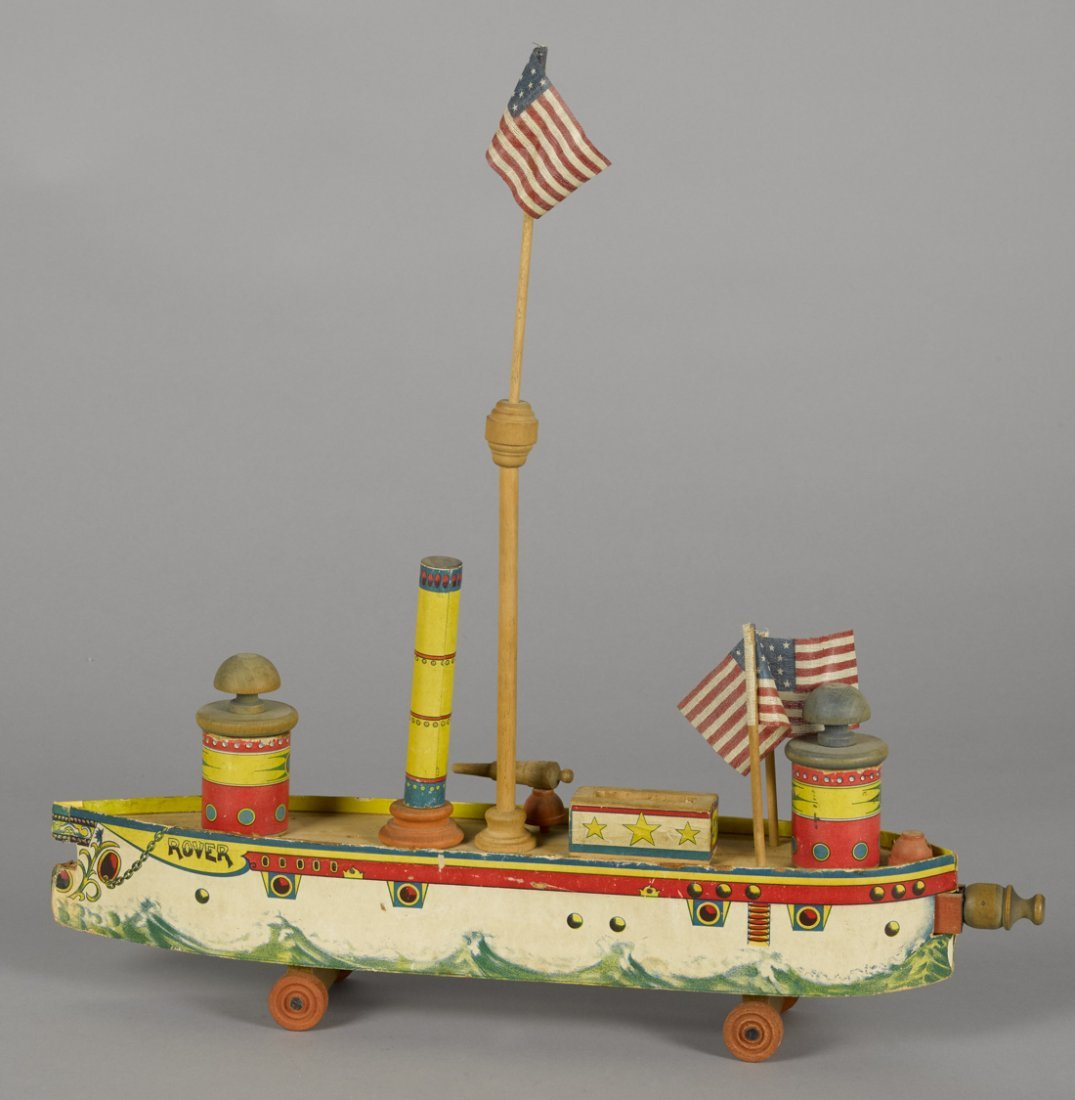 Bliss paper lithograph Rover battleship with
