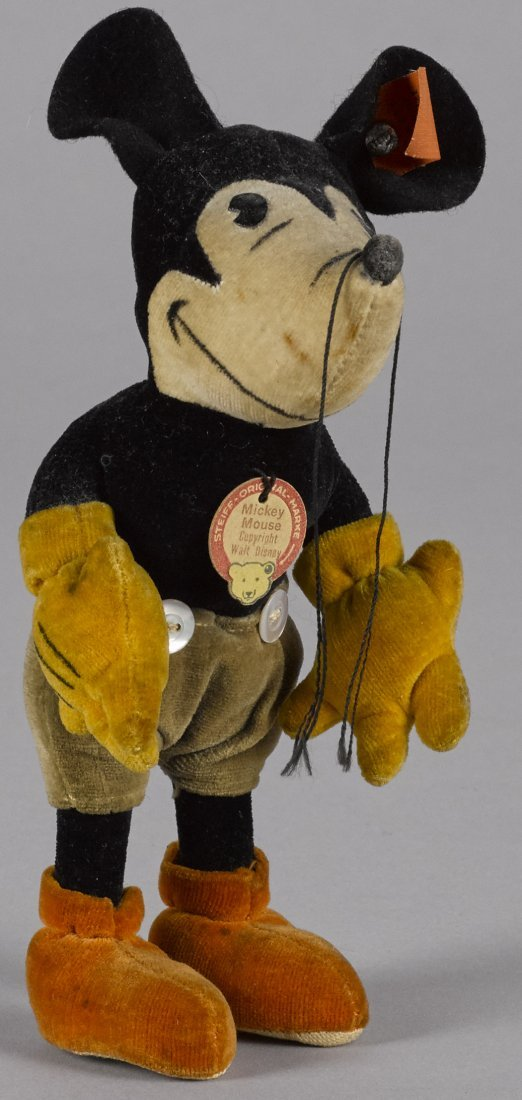 Steiff Mickey Mouse cloth doll, ca. 1932, with