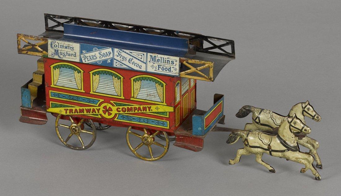 Richter tin lithograph horse drawn Tramway Comp