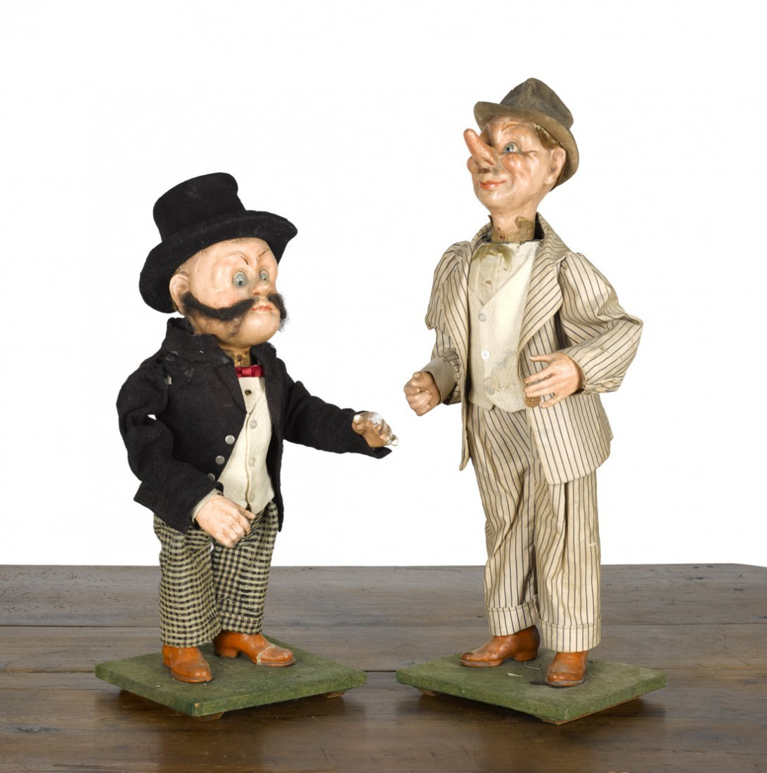 Cloth dressed composition Mutt and Jeff clockwor