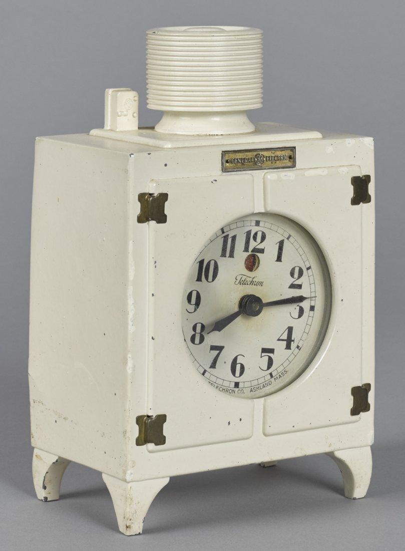 G. E. Monitor Top refrigerator clock, painted c