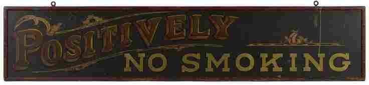 Positively No Smoking polychromed tin train st