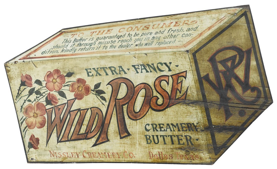 Nissley Creamery Co. Wild Rose Butter painted