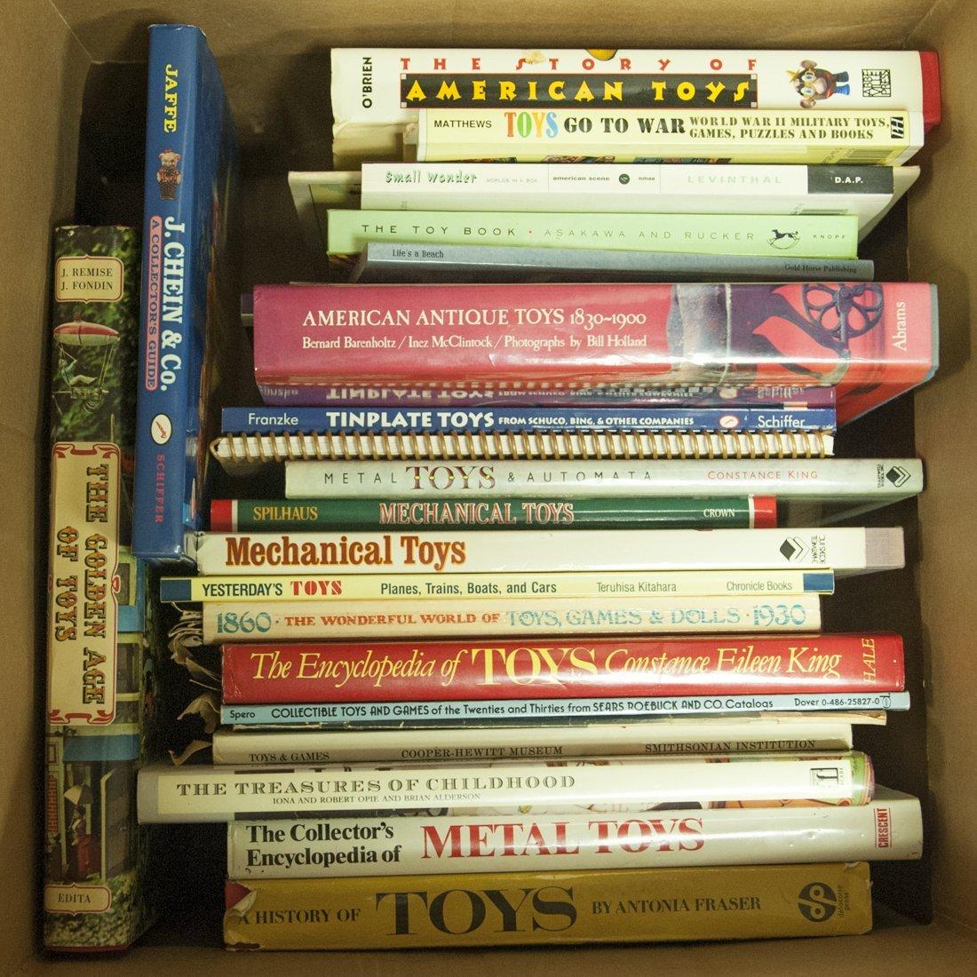 Twenty-five toy-related books.