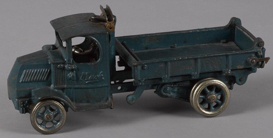 Arcade cast iron Mack dump truck with a nicke