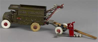 Hubley cast iron Bell Telephone truck with a