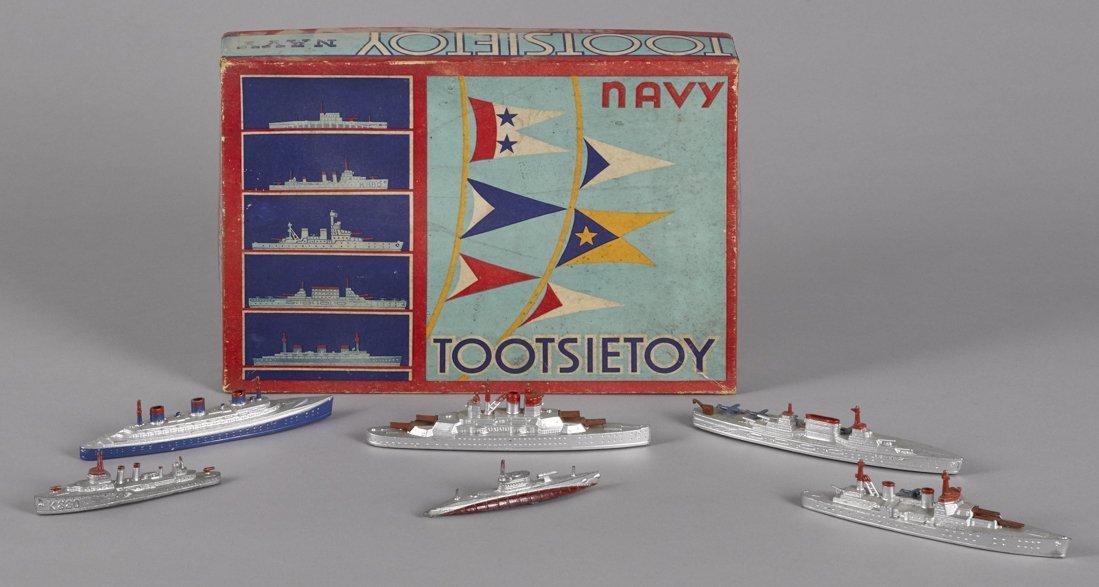 Tootsietoy Navy no. 5750 ship set, in its ori