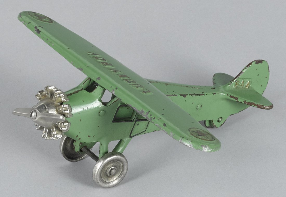 Dent cast iron Lucky Boy monocoupe airplane w