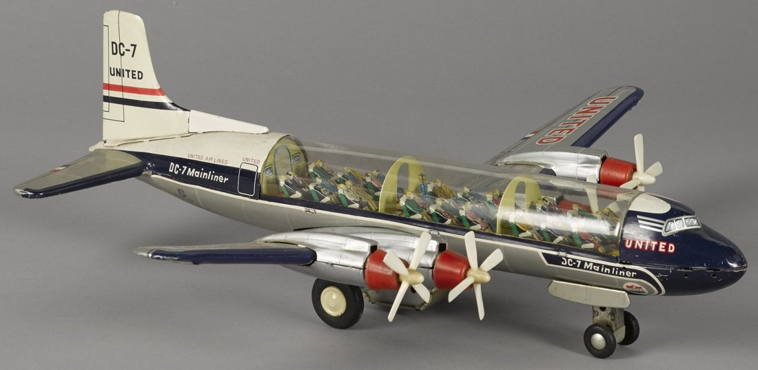 Japanese tin lithograph friction United Airline