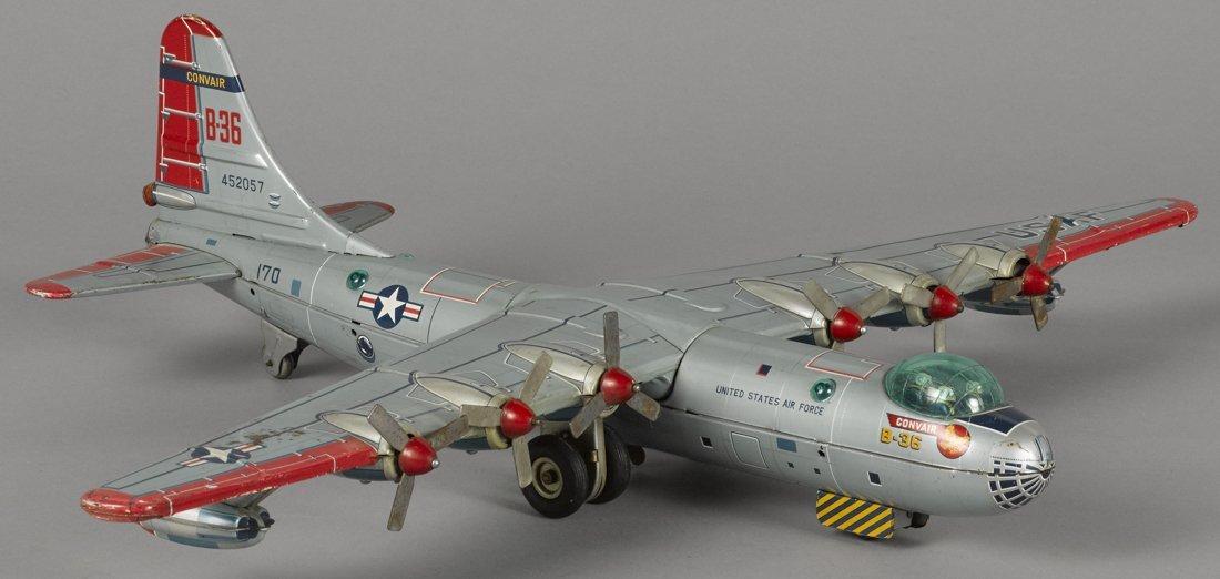 Japanese tin lithograph friction B-36 Convair