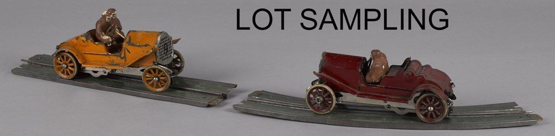 Lionel pre-war pressed steel race slot car set