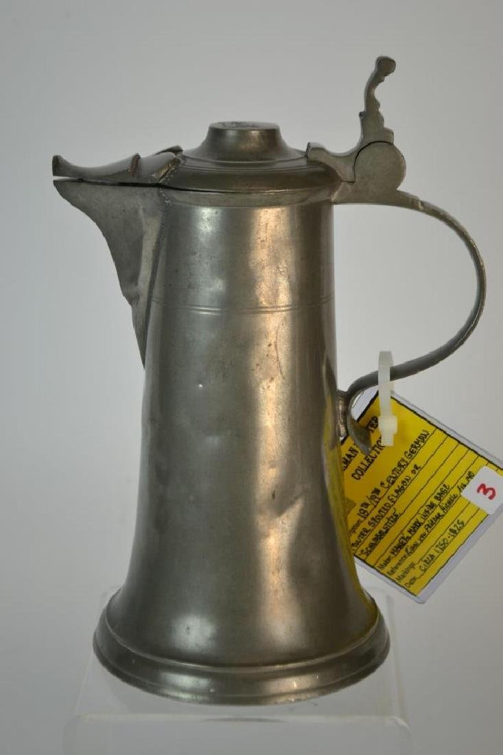 18th/19th Century German Pewter Spouted Flagon