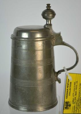 Early 19th Century German Pewter Beer Stein