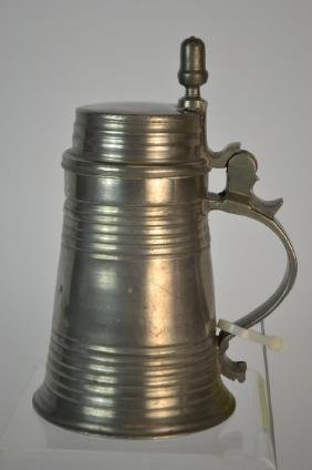19th Century German Pewter Beer Stein or Bierkrug