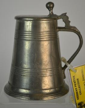 19th Century German Pewter Beer Stein