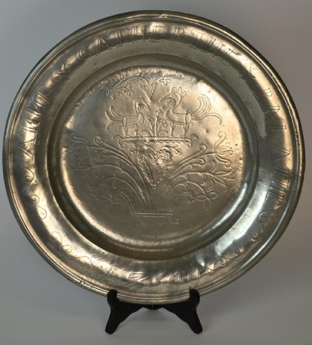 Important & Rare, 18th C German or Am. Pewter Char