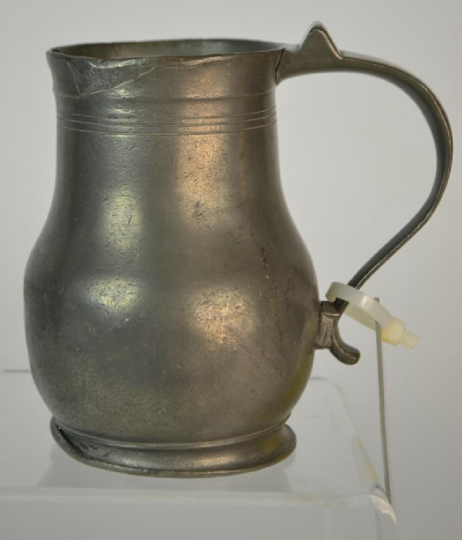 19th Century French Pewter Pitcher
