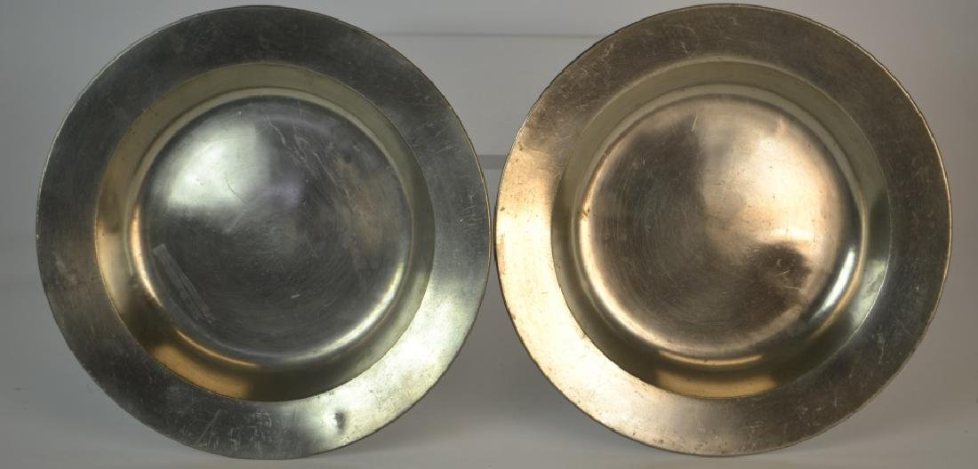 Matched pair of early 19th century German pewter