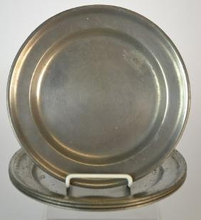 Matched Set of 4 18th Century German Pewter Plates