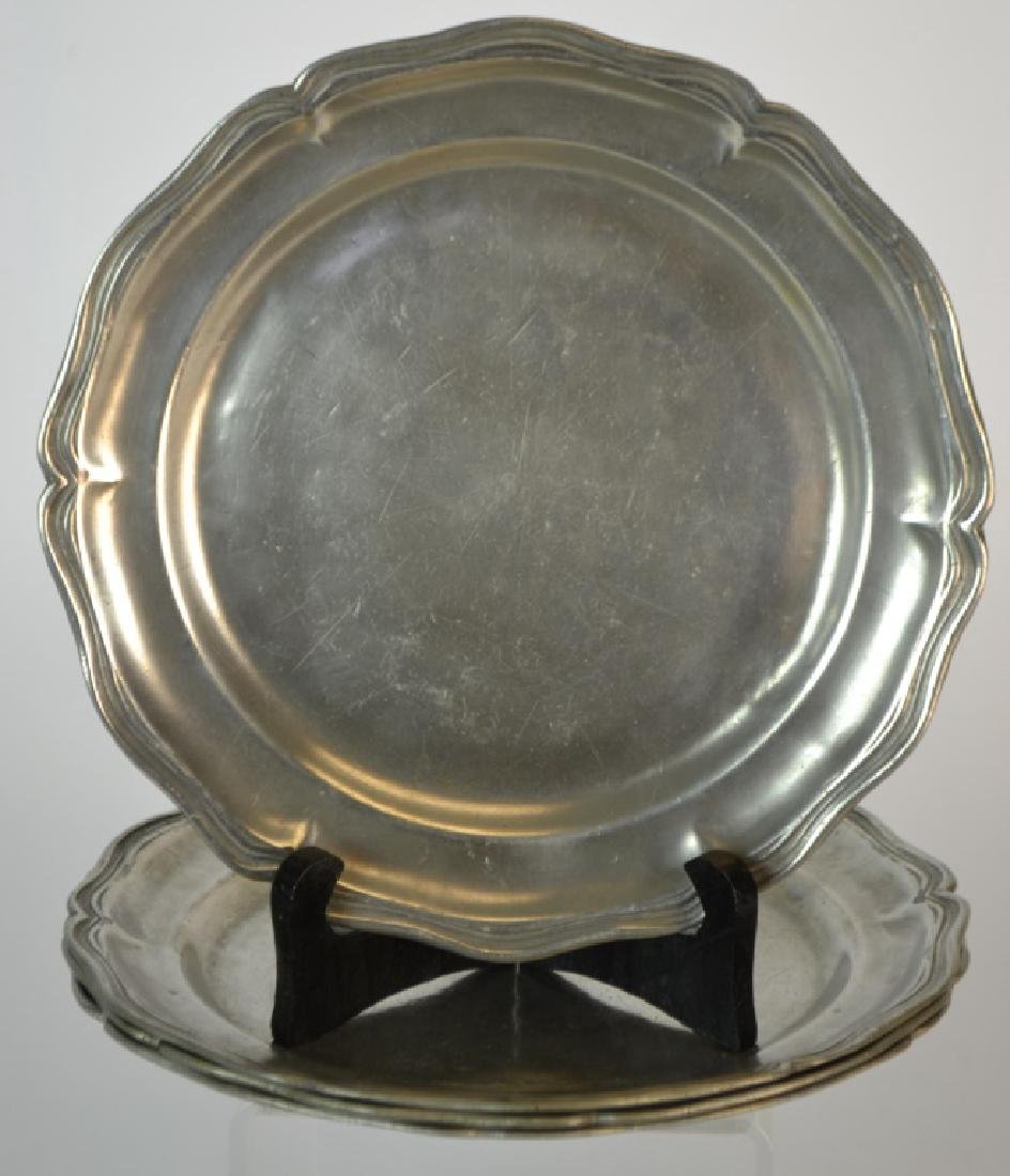 Matched Set of 4 18th Century French Pewter Plates