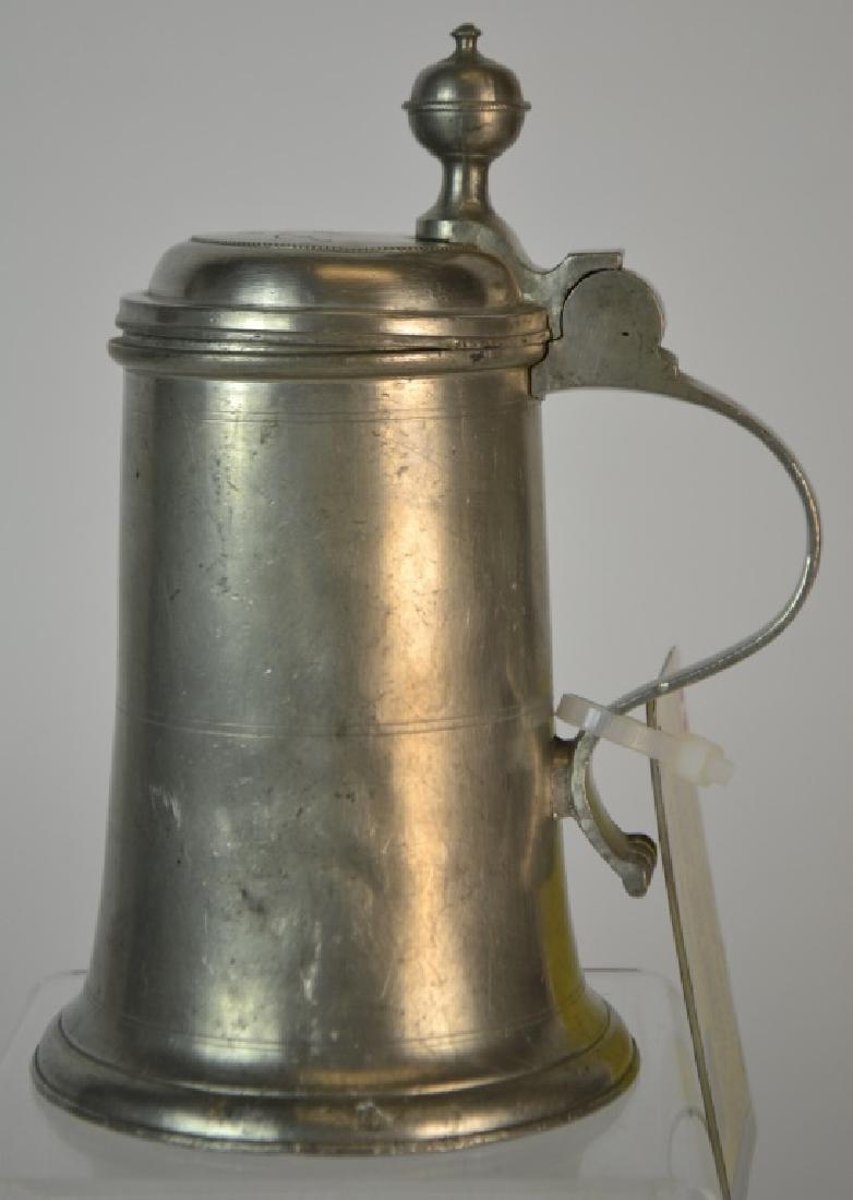 19th Century German Pewter Beer Stein or Bierkrug