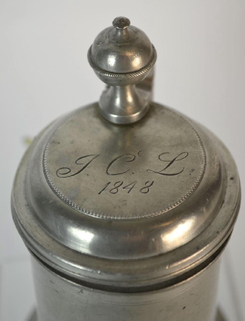 19th Century German Pewter Beer Stein or Bierkrug - 2