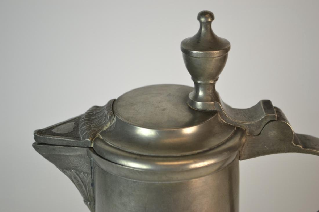 19th Century German Pewter Spouted Wine Flagon - 3