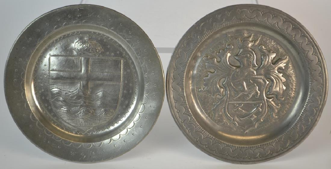 Two 19th Century German Pewter Dishes