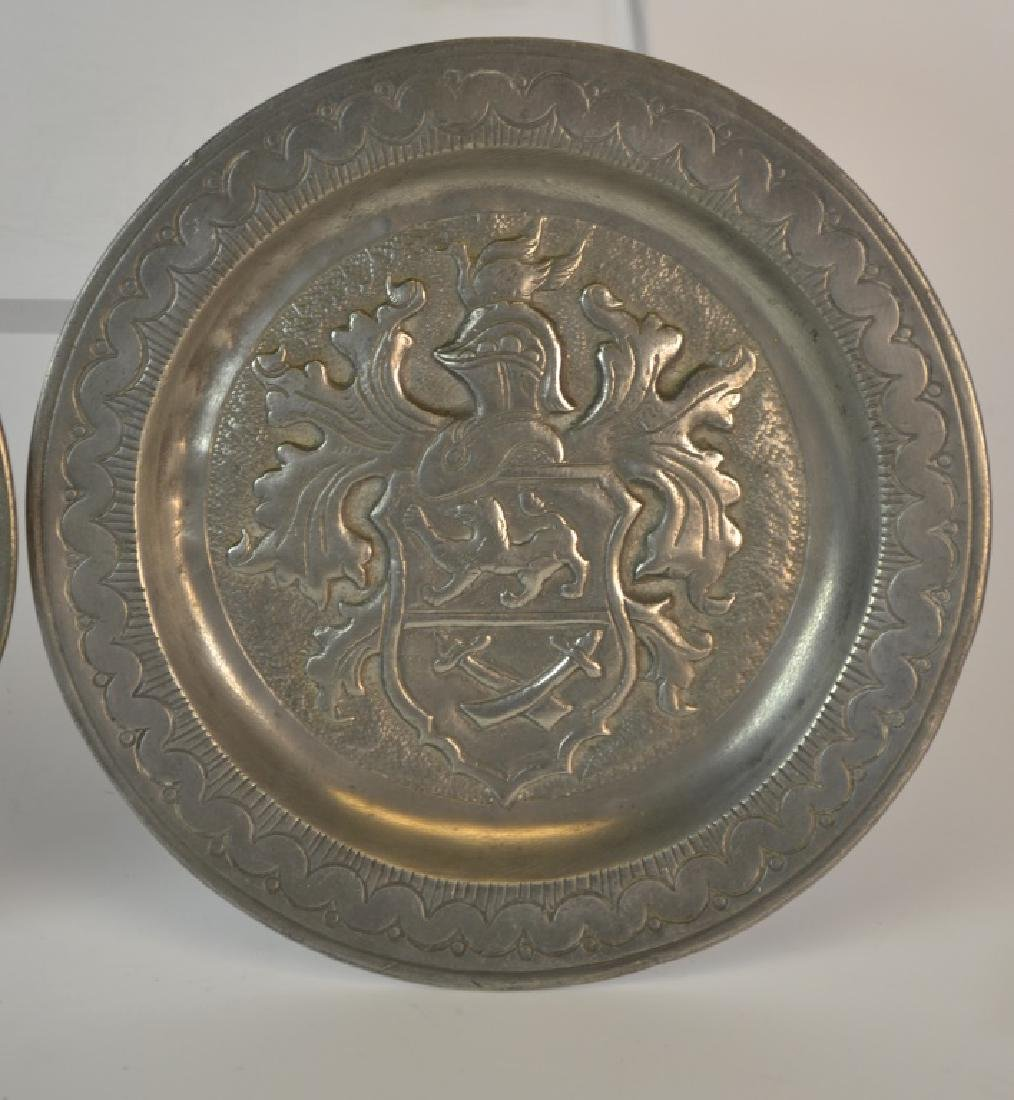 Two 19th Century German Pewter Dishes - 2