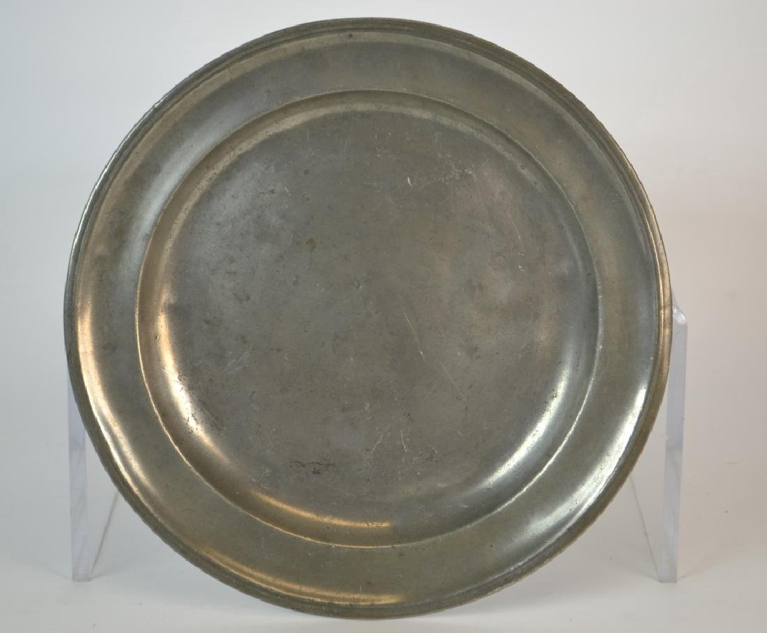 18th Century French Pewter Charger