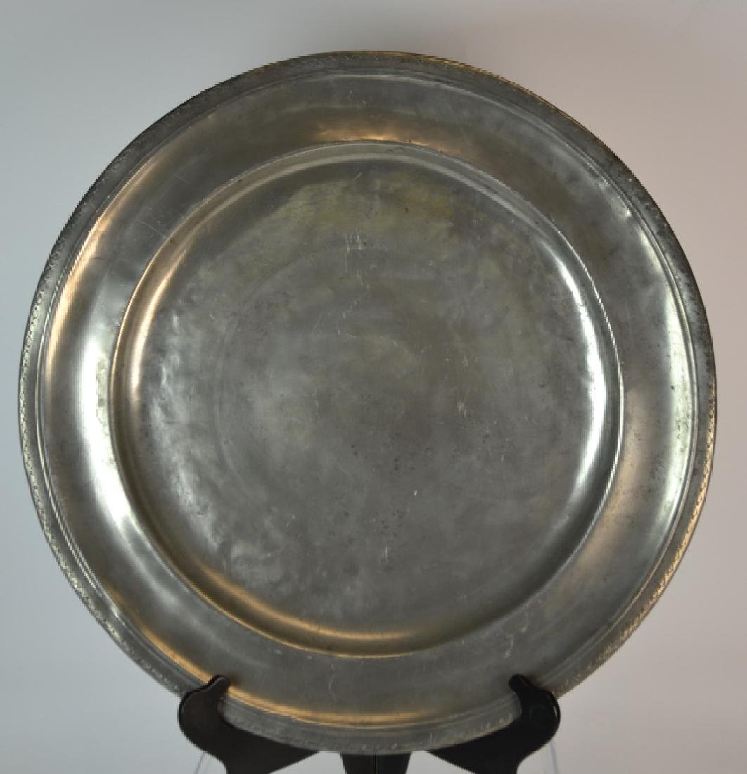 10Rare, Massive18th Century, French Pewter Charger