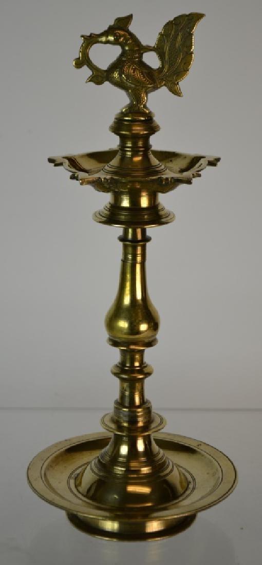 19th Century Indian Brass 'Divali' Lamp
