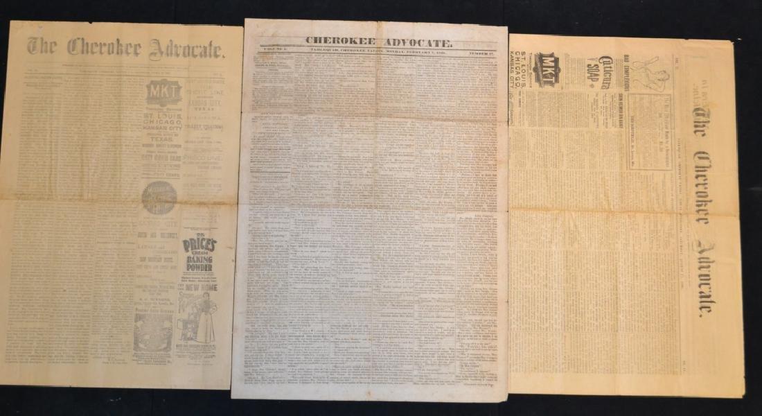 Three 19th C Cherokee Advocate Newspapers