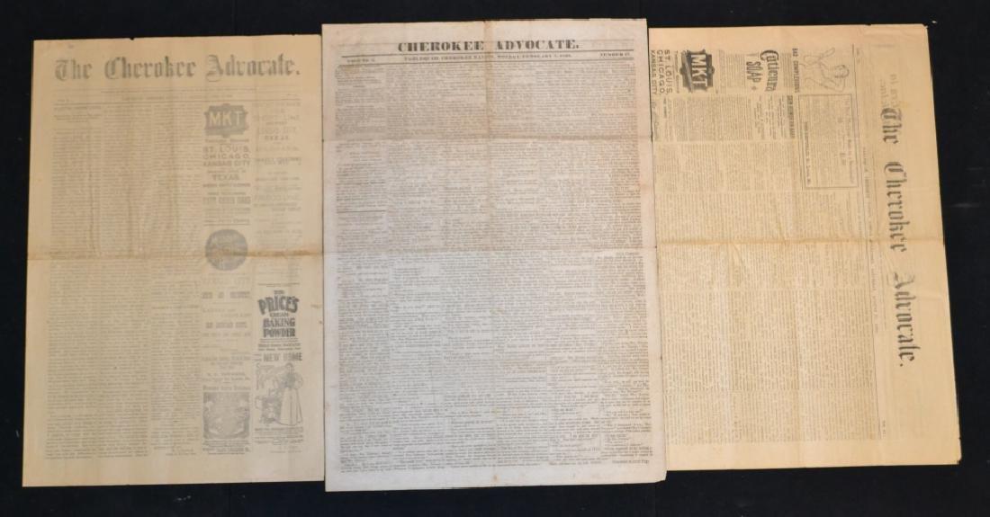 Three 19th C Cherokee Advocate Newspapers - 2