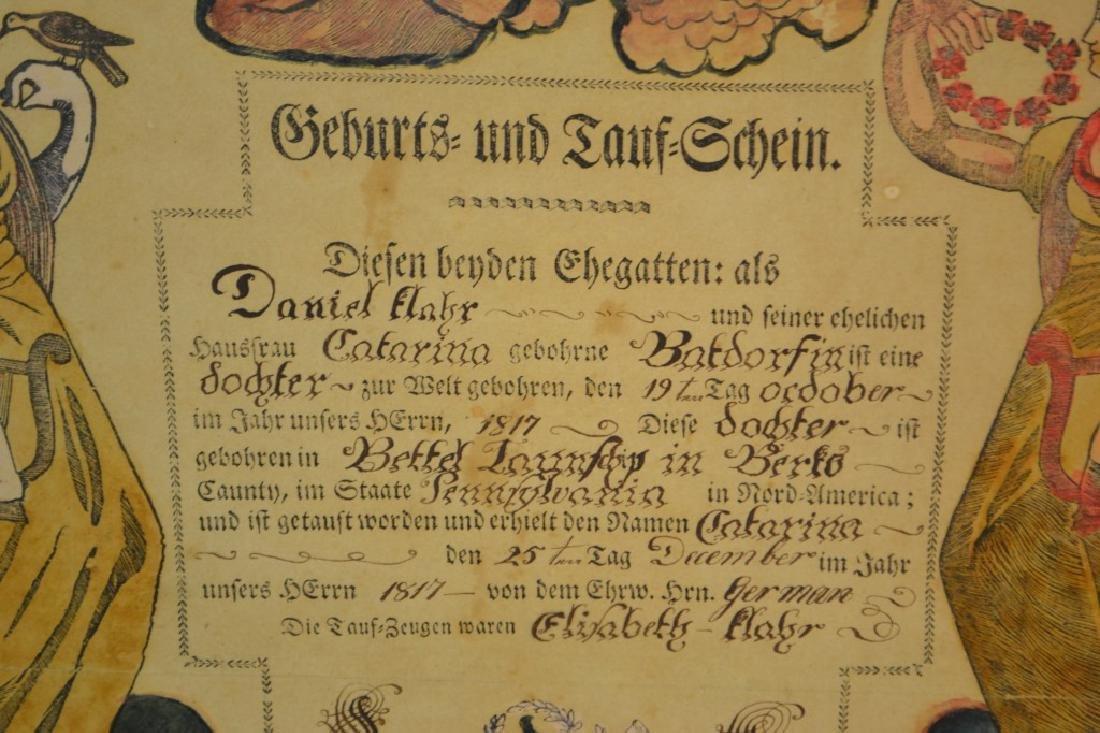 Reading Pennsylvania 'Tauf-Schein' - 2