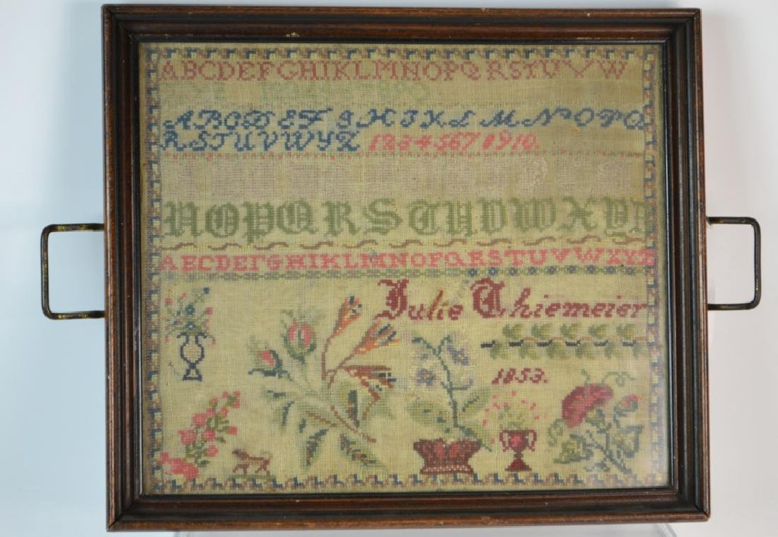 19th Century Needlepoint Sampler