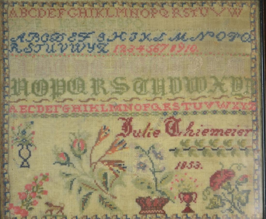 19th Century Needlepoint Sampler - 2