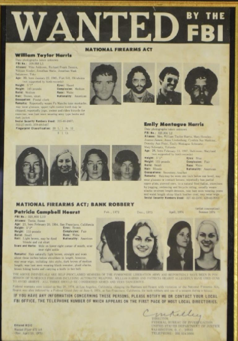 Authentic FBI Wanted Poster - 2